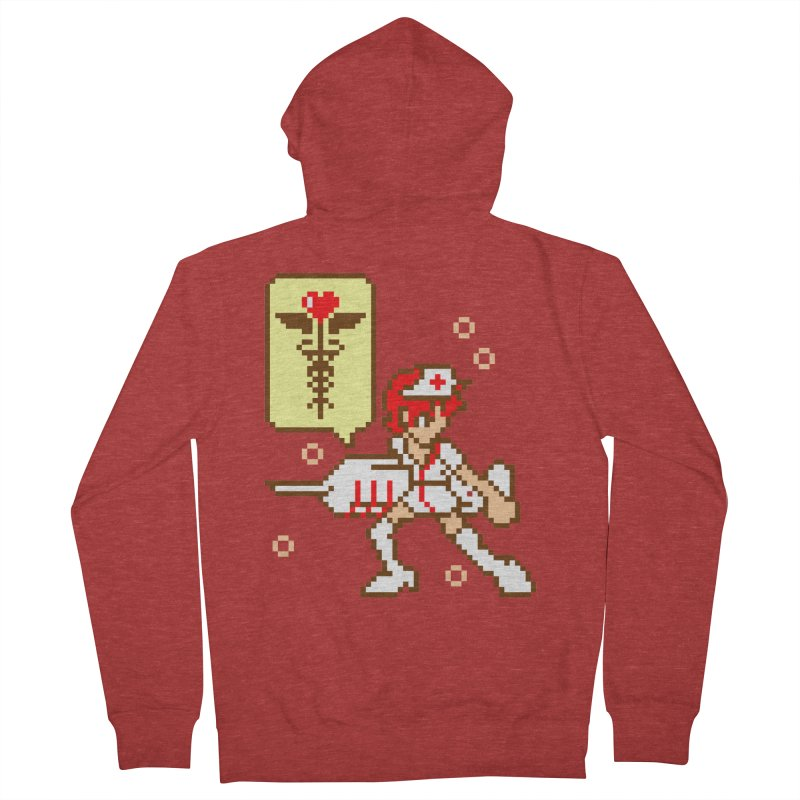 Nurse Call Men's French Terry Zip-Up Hoody by emodistcreates's Artist Shop