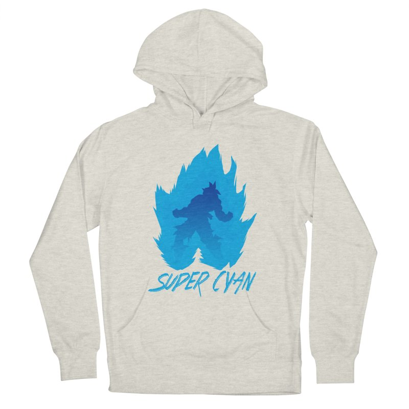 Super Cyan Women's French Terry Pullover Hoody by emodistcreates's Artist Shop