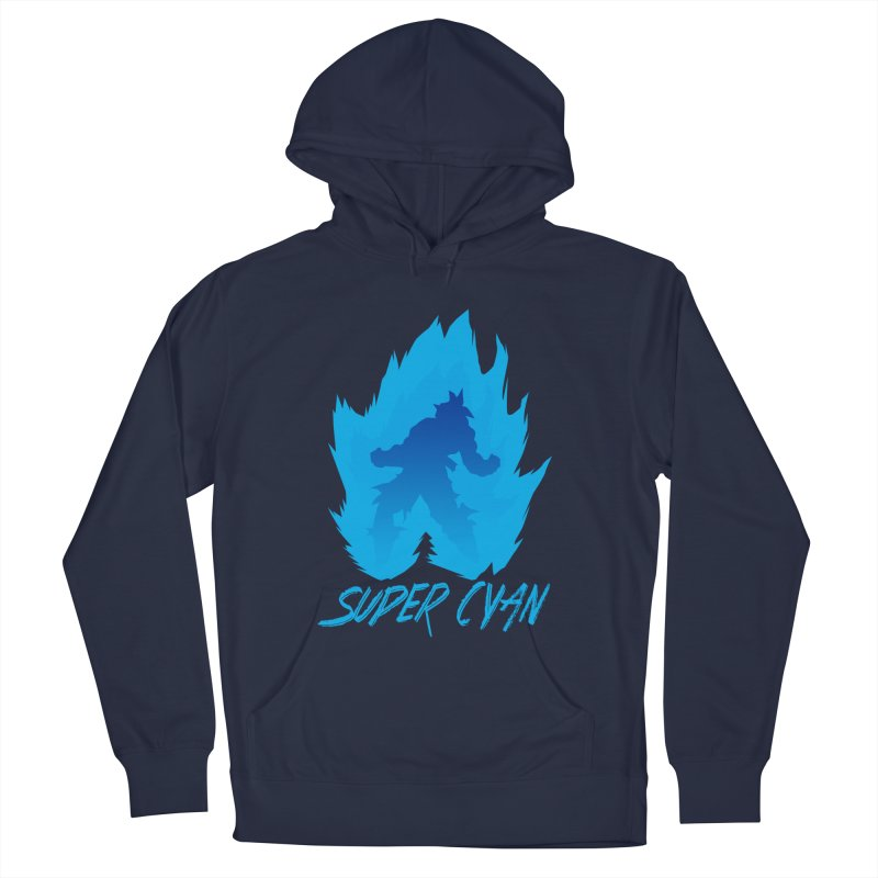 Super Cyan Women's Pullover Hoody by emodistcreates's Artist Shop