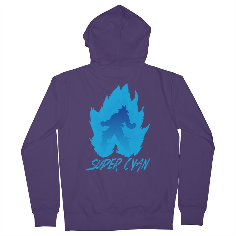 Super Cyan Women's French Terry Zip-Up Hoody by emodistcreates's Artist Shop