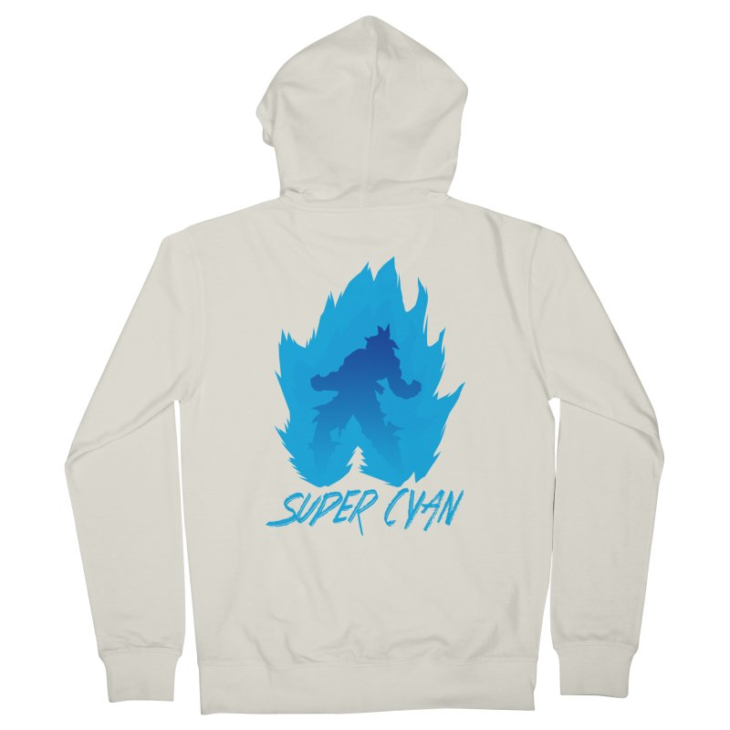Super Cyan Men's French Terry Zip-Up Hoody by emodistcreates's Artist Shop