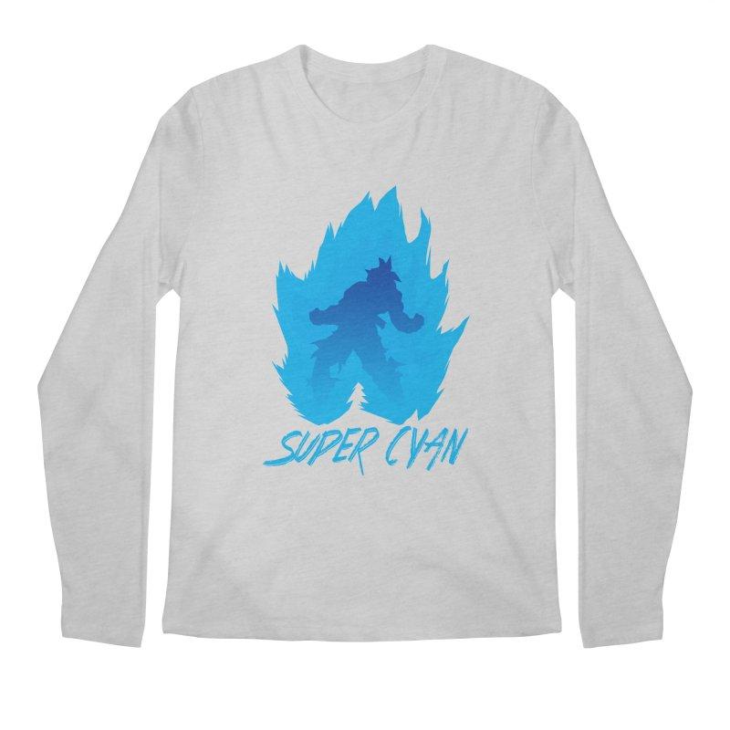 Super Cyan Men's Longsleeve T-Shirt by emodistcreates's Artist Shop