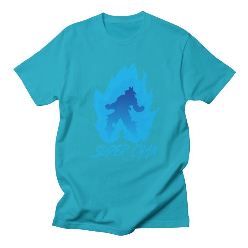 Super Cyan Men's T-shirt by emodistcreates's Artist Shop
