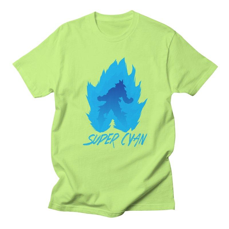 Super Cyan Men's Regular T-Shirt by emodistcreates's Artist Shop