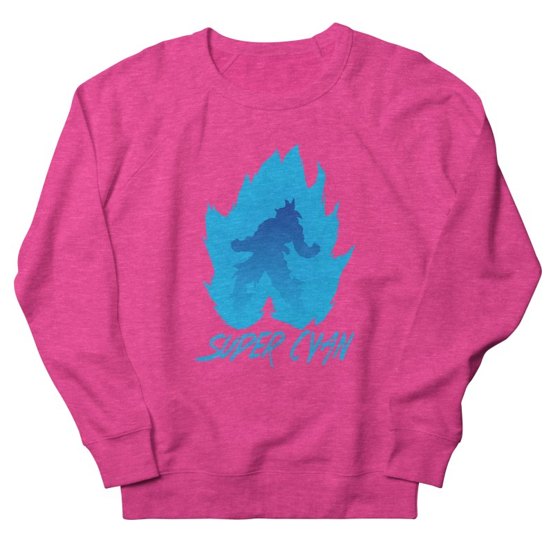 Super Cyan Men's Sweatshirt by emodistcreates's Artist Shop