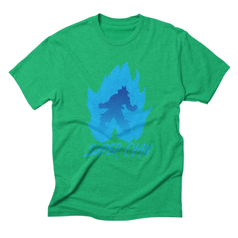 Super Cyan Men's Triblend T-Shirt by emodistcreates's Artist Shop