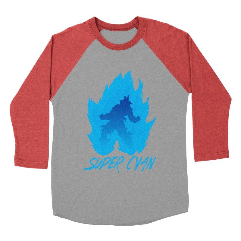 Super Cyan Women's Baseball Triblend T-Shirt by emodistcreates's Artist Shop