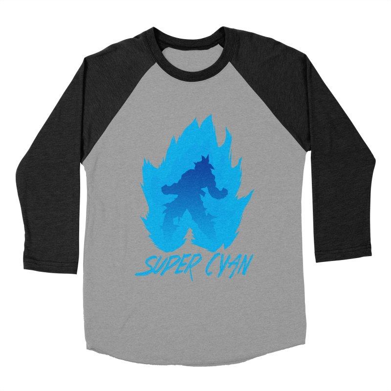 Super Cyan Men's Baseball Triblend Longsleeve T-Shirt by emodistcreates's Artist Shop