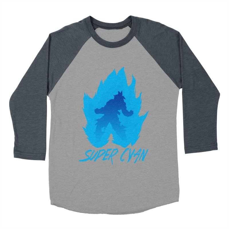 Super Cyan Men's Baseball Triblend Longsleeve T-Shirt by emodistcreates's Artist Shop