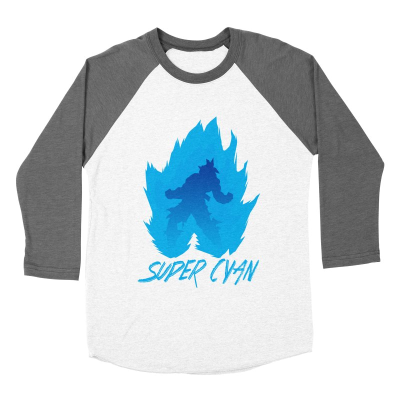 Super Cyan Men's Baseball Triblend T-Shirt by emodistcreates's Artist Shop