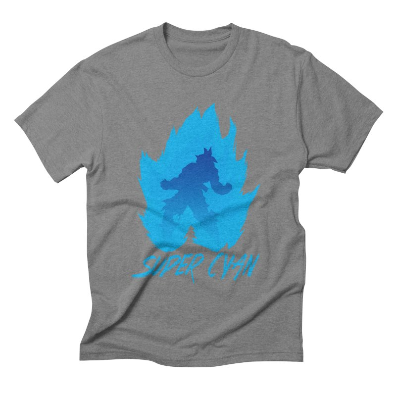 Super Cyan Men's Triblend T-shirt by emodistcreates's Artist Shop