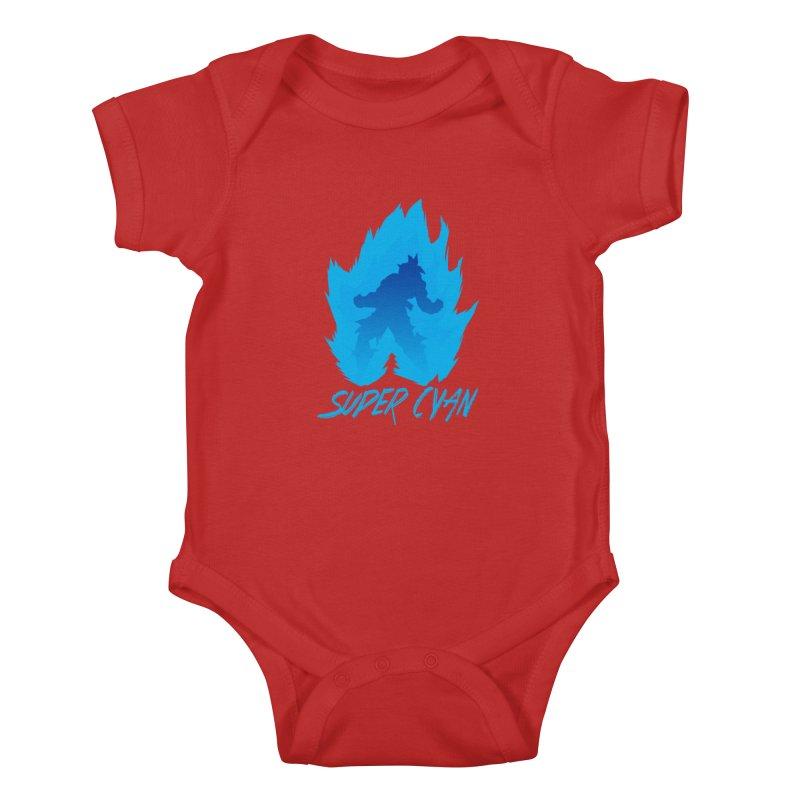 Super Cyan Kids Baby Bodysuit by emodistcreates's Artist Shop