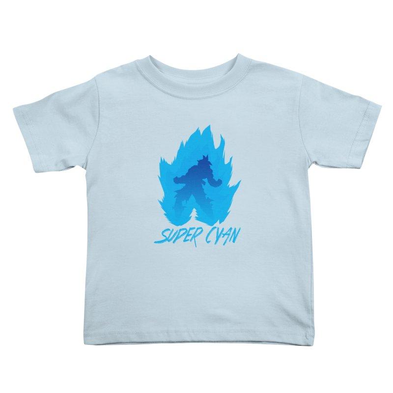 Super Cyan Kids Toddler T-Shirt by emodistcreates's Artist Shop