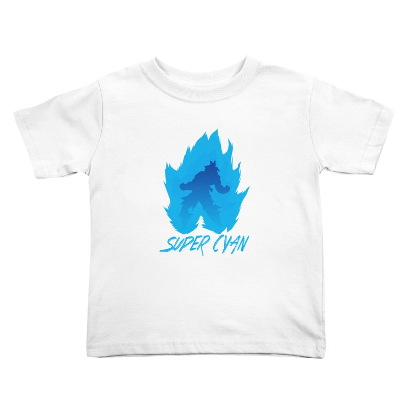 Super Cyan Kids Toddler T-Shirt by emodistcreates's Artist Shop