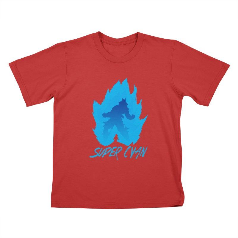 Super Cyan Kids T-Shirt by emodistcreates's Artist Shop
