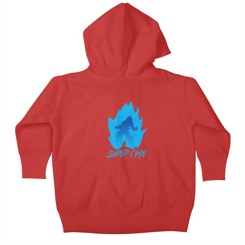 Super Cyan Kids Baby Zip-Up Hoody by emodistcreates's Artist Shop