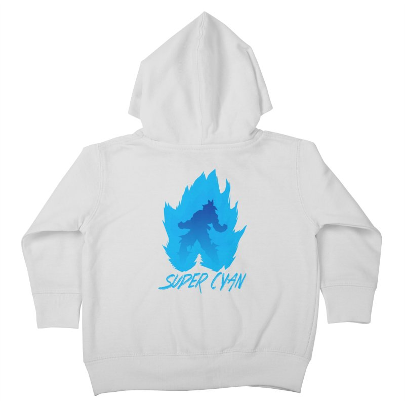 Super Cyan Kids Toddler Zip-Up Hoody by emodistcreates's Artist Shop