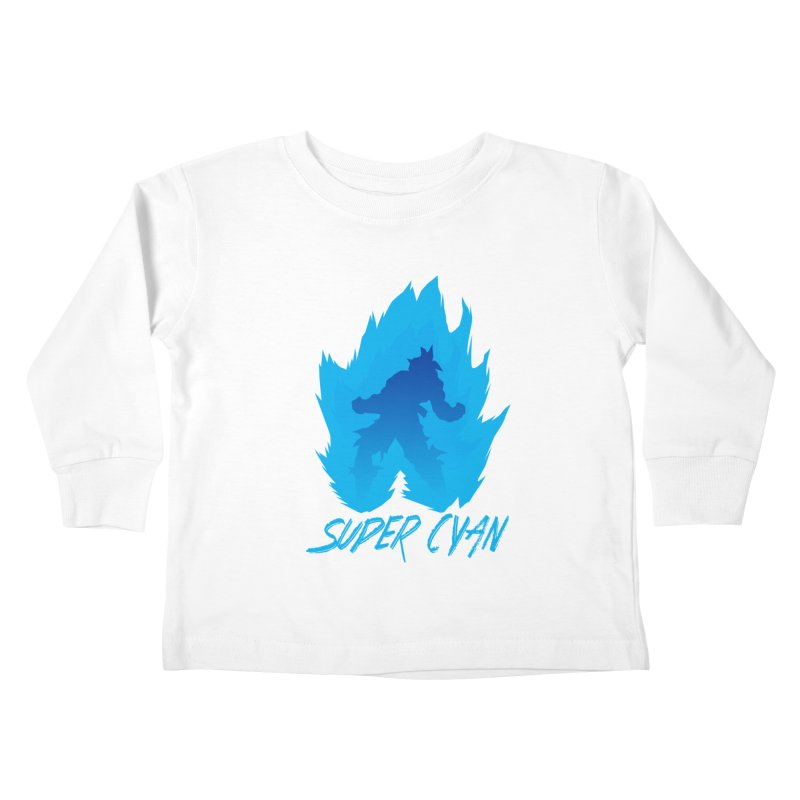 Super Cyan Kids Toddler Longsleeve T-Shirt by emodistcreates's Artist Shop