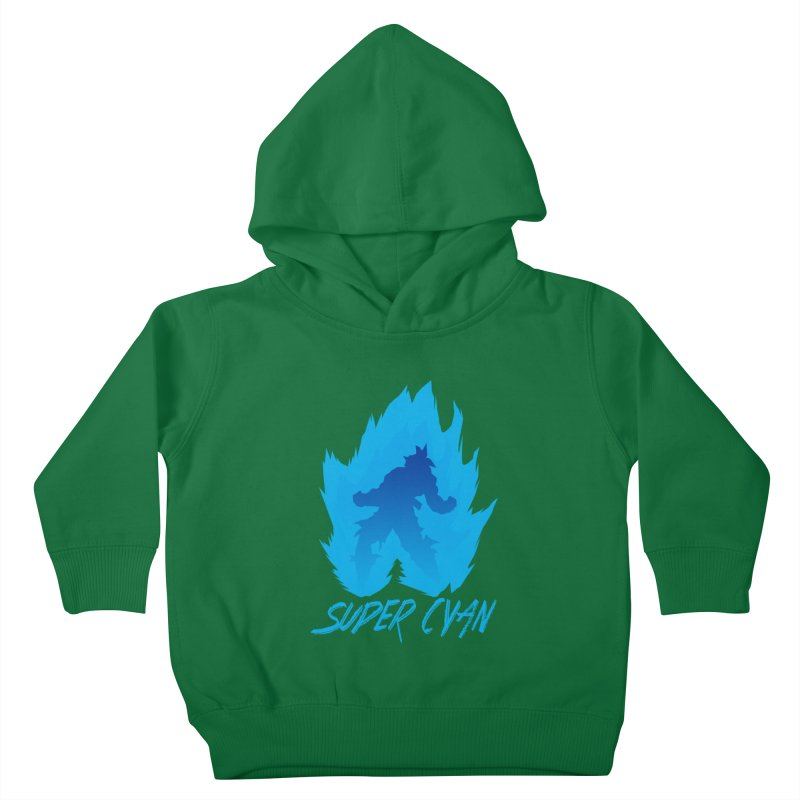 Super Cyan Kids Toddler Pullover Hoody by emodistcreates's Artist Shop