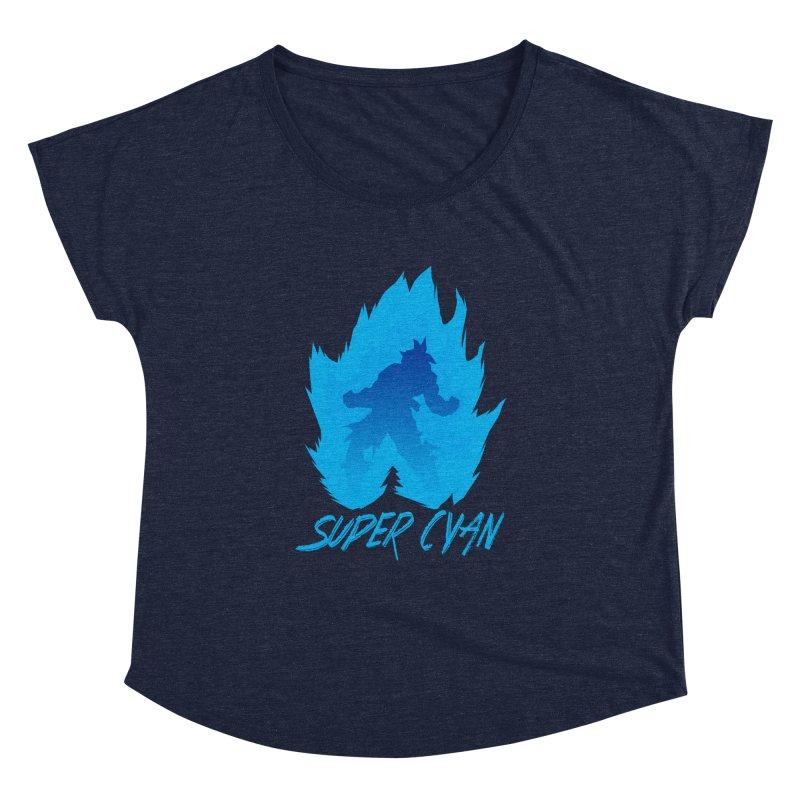 Super Cyan Women's Dolman Scoop Neck by emodistcreates's Artist Shop