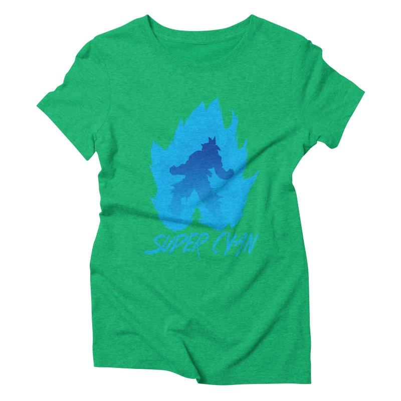 Super Cyan Women's Triblend T-shirt by emodistcreates's Artist Shop