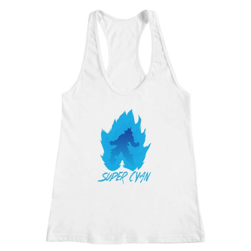 Super Cyan Women's Racerback Tank by emodistcreates's Artist Shop