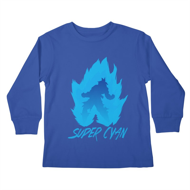 Super Cyan Kids Longsleeve T-Shirt by emodistcreates's Artist Shop