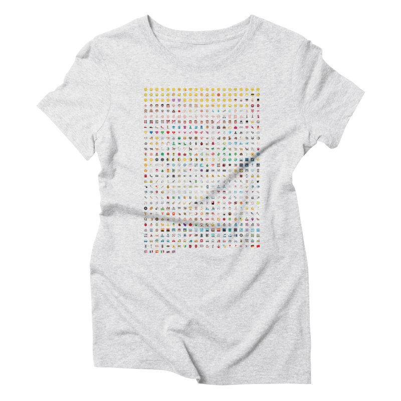 All Women's Triblend T-Shirt by emoji's Artist Shop