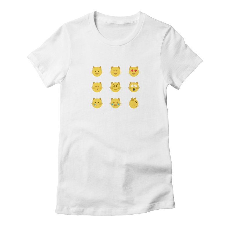 Cats Women's Fitted T-Shirt by emoji's Artist Shop