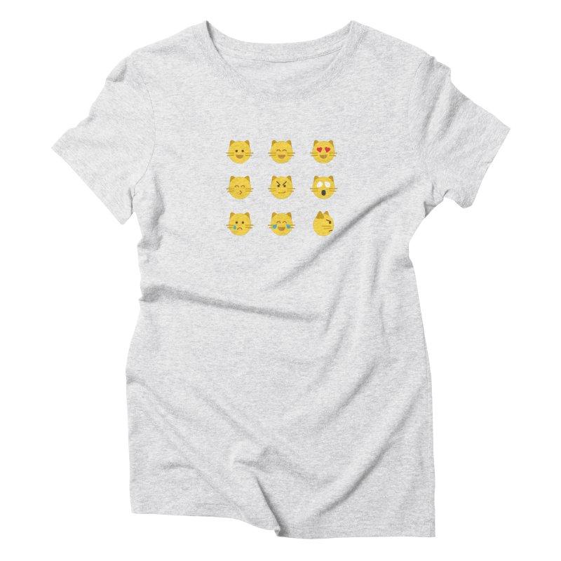 Cats Women's Triblend T-Shirt by emoji's Artist Shop