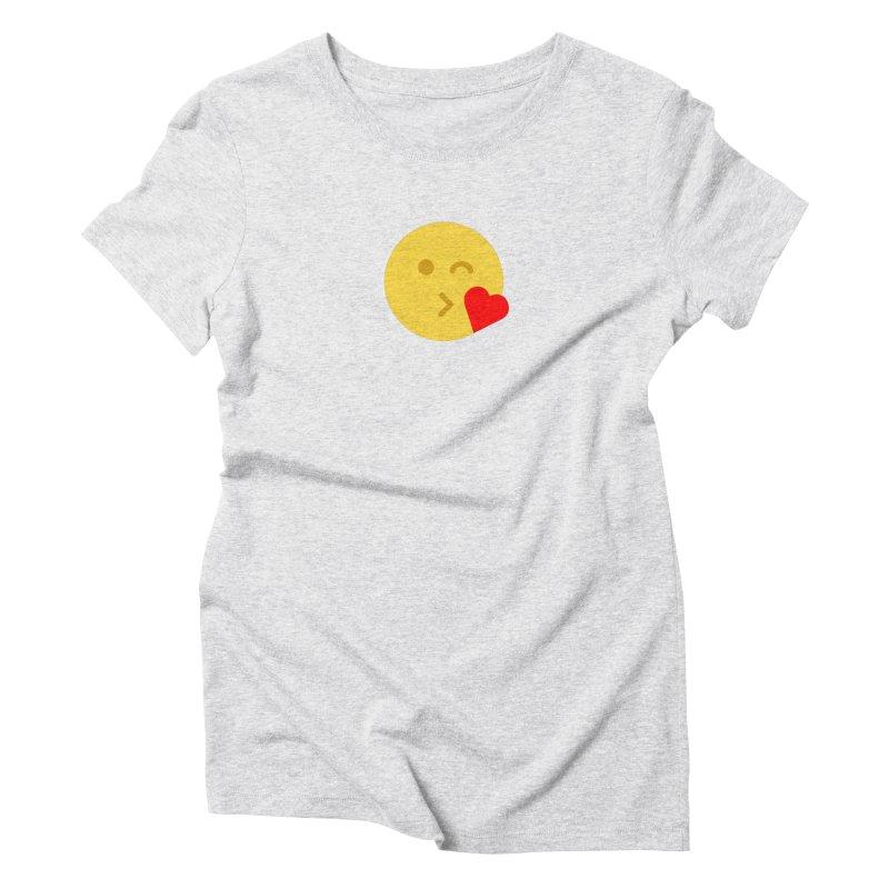 Face Throwing A Kiss Women's Triblend T-Shirt by emoji's Artist Shop