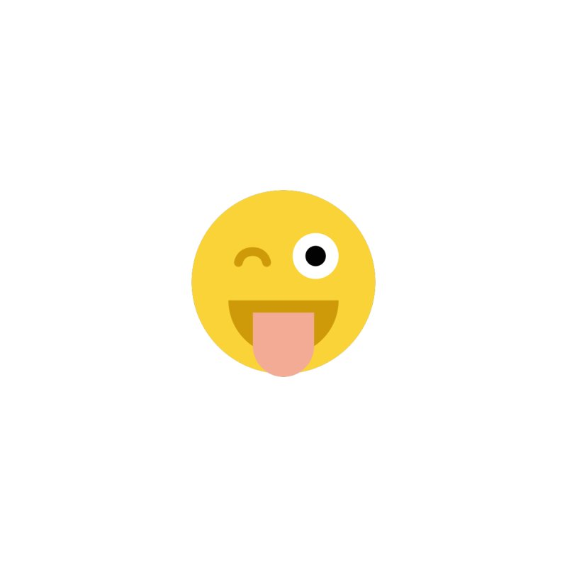 Face With Stuck-Out Tongue and Winking Eye   by emoji's Artist Shop