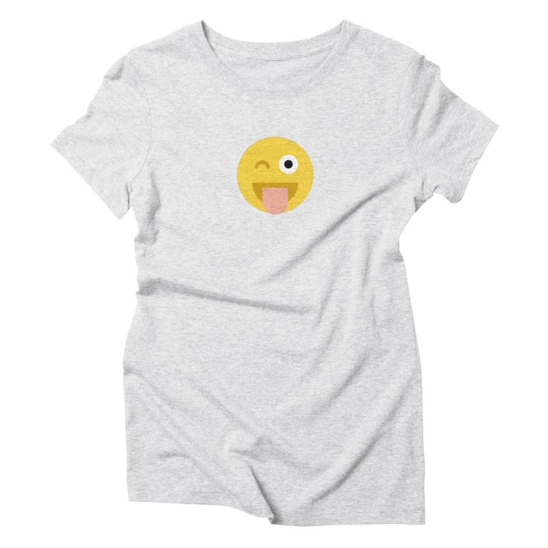 Face With Stuck-Out Tongue and Winking Eye Women's Triblend T-Shirt by emoji's Artist Shop