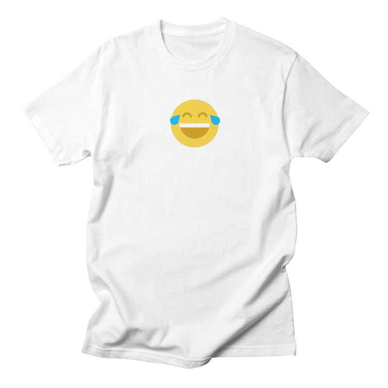 Face With Tears of Joy Men's Regular T-Shirt by emoji's Artist Shop