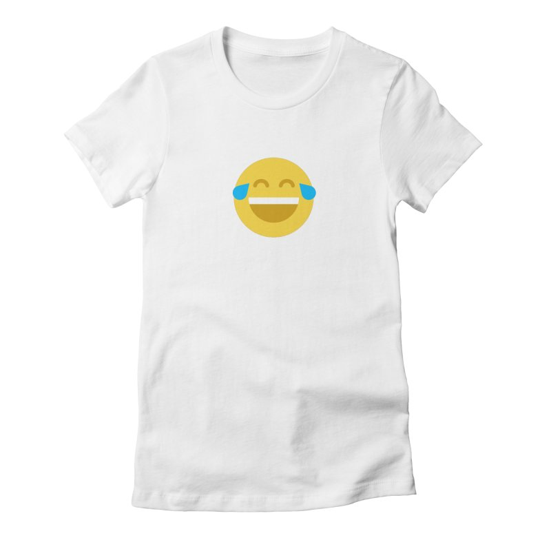Face With Tears of Joy Women's Fitted T-Shirt by emoji's Artist Shop