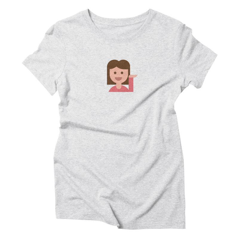Information Desk Person Women's Triblend T-Shirt by emoji's Artist Shop