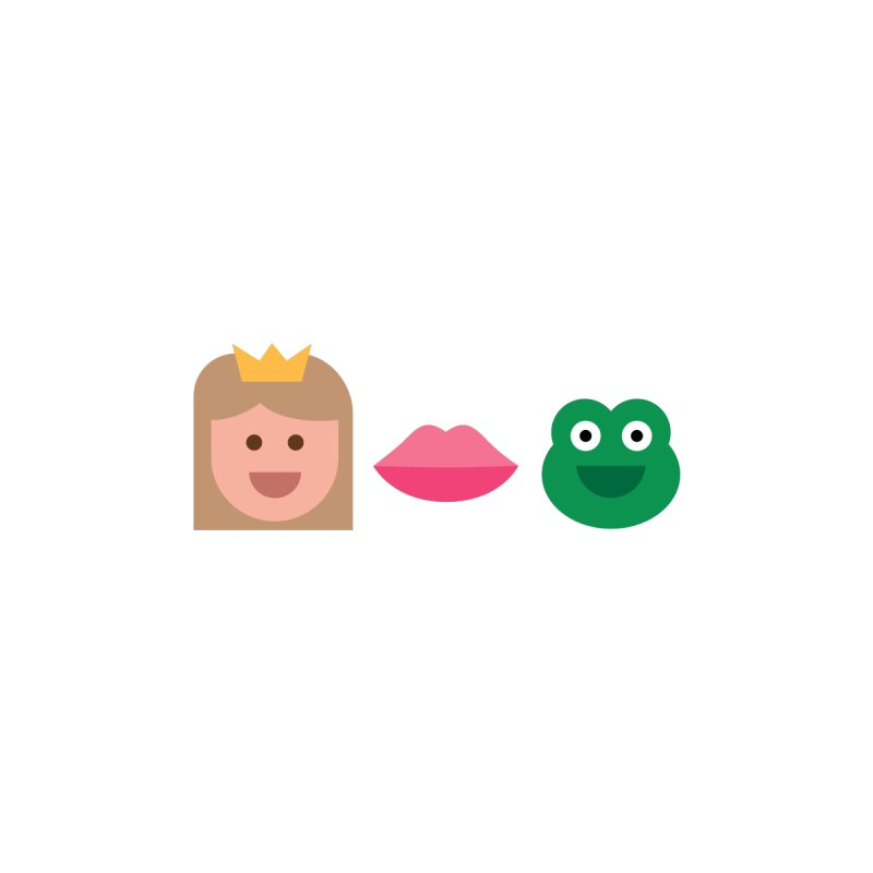 Kiss Me, I'm a Frog None  by emoji's Artist Shop