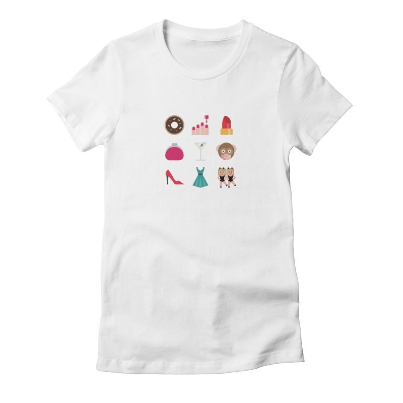 Ladies' Night Women's Fitted T-Shirt by emoji's Artist Shop
