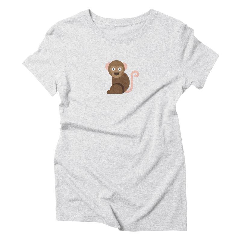 Monkey Women's T-Shirt by emoji's Artist Shop