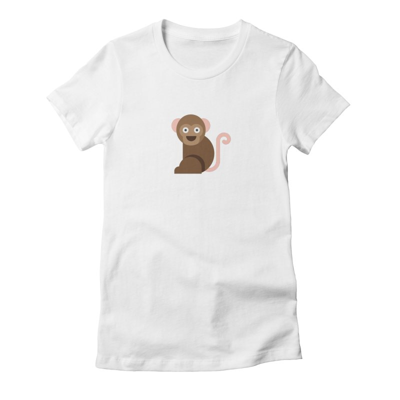 Monkey Women's Fitted T-Shirt by emoji's Artist Shop