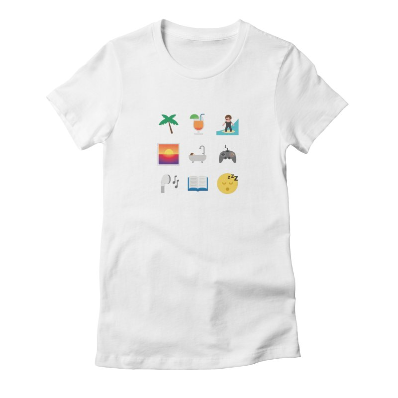 Relax Women's Fitted T-Shirt by emoji's Artist Shop