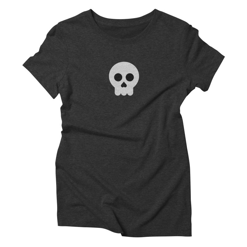 Skull Women's Triblend T-Shirt by emoji's Artist Shop