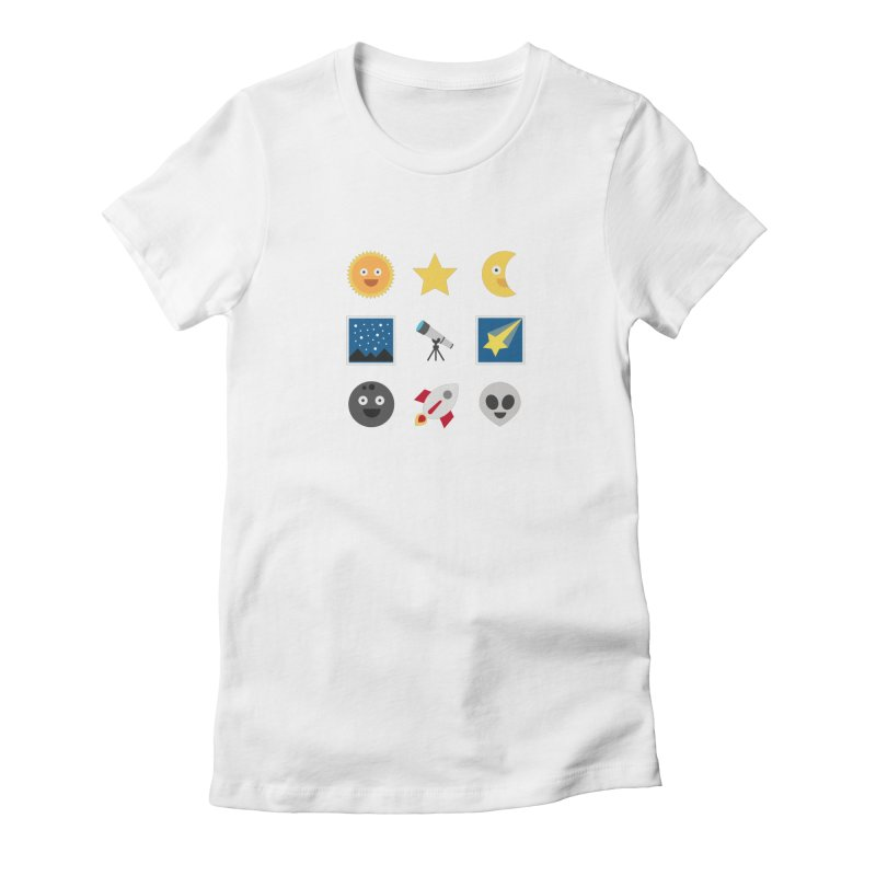 Sky Women's Fitted T-Shirt by emoji's Artist Shop