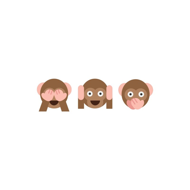 Three Wise Monkeys Men's T-Shirt by emoji's Artist Shop