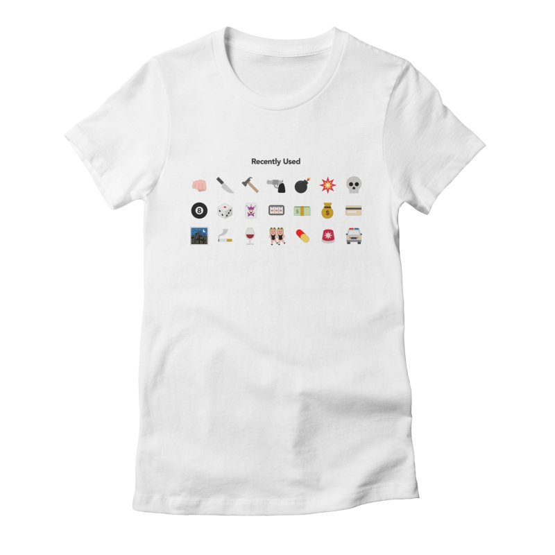 Thug Life Women's Fitted T-Shirt by emoji's Artist Shop