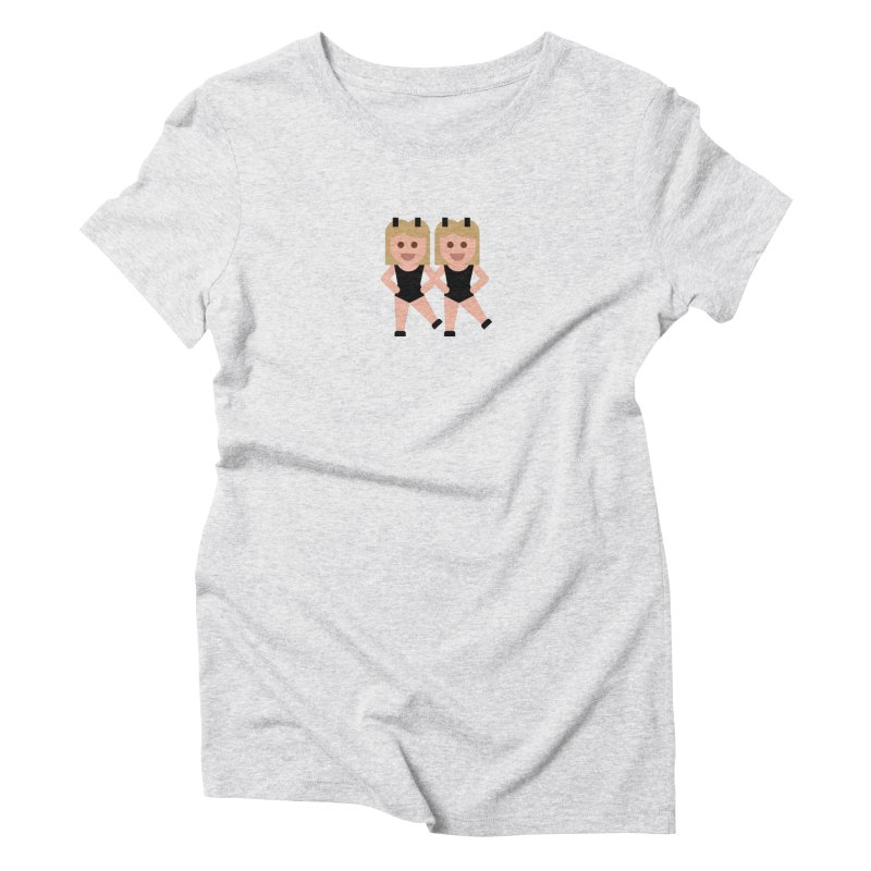 Woman With Bunny Ears Women's Triblend T-Shirt by emoji's Artist Shop