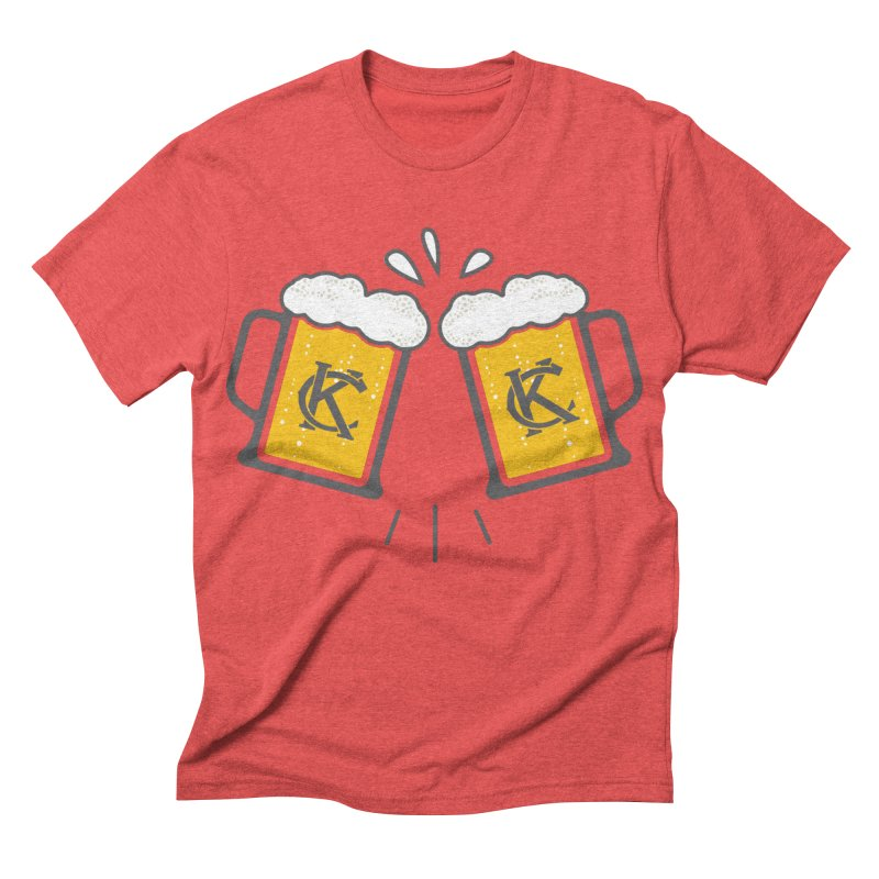 KC Beers in Men's Triblend T-shirt Chili Red by Emoji My City
