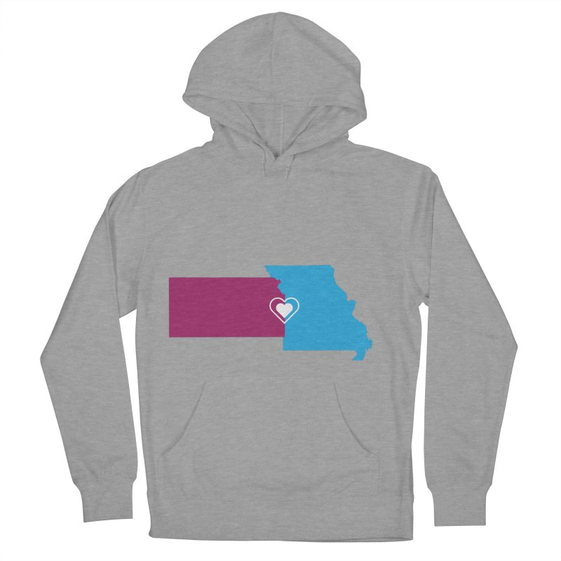 Kansas City Lovefest in Women's Pullover Hoody Heather Graphite by Emoji My City