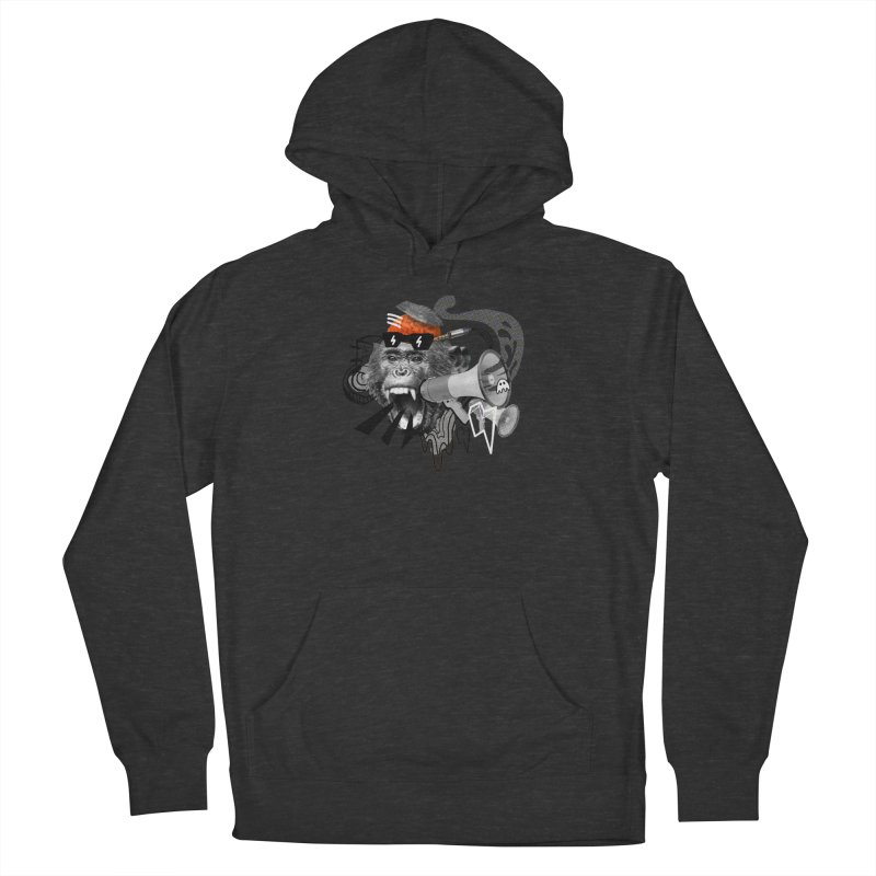 Chimpanscream Women's French Terry Pullover Hoody by Emojo's Artist Shop