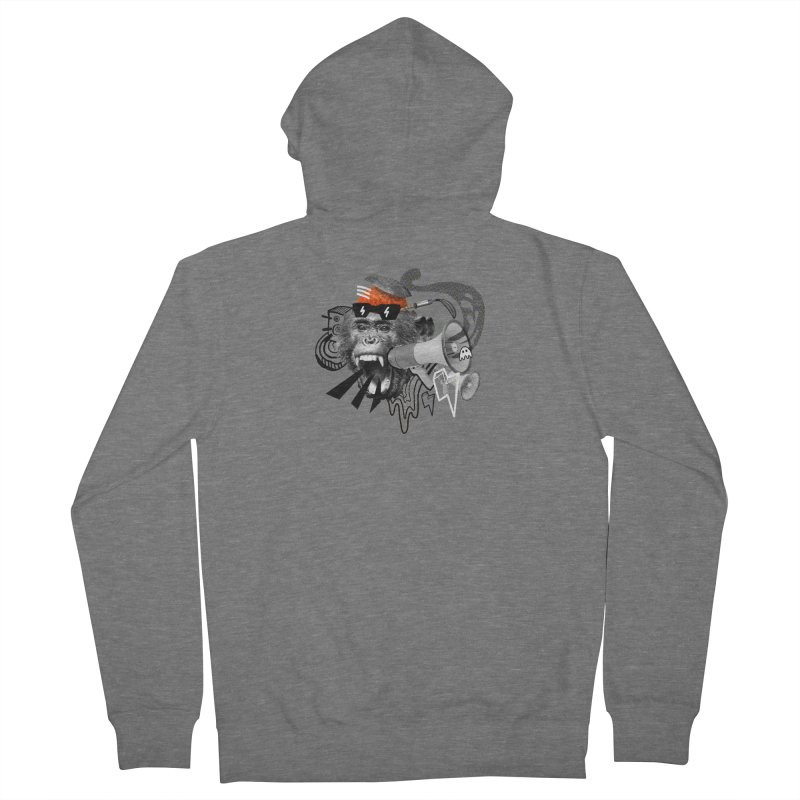 Chimpanscream Men's Zip-Up Hoody by Emojo's Artist Shop